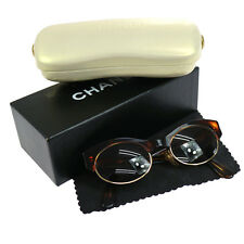 Authentic CHANEL Vintage CC Logos Tortoiseshell Sunglasses Brown Italy V03867