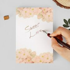 95sheets Girls Cute Pink Flower Letter Writing Stationery Paper Notes Pad Blank