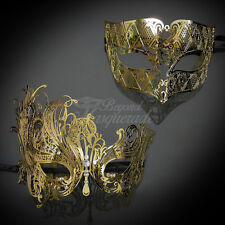 Best Sellers! His & Hers Filigree Metal Venetian Masquerade Mask for Couple