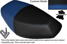 ROYAL BLUE & BLACK CUSTOM FITS PULSE SCOUT 50 BOATIAN DUAL LEATHER SEAT COVER