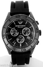Emporio Armani Men's AR1434 Ceramic Black Silicone Strap Chronograph Watch
