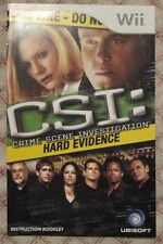 Nintendo Wii - CSI : Hard Evidence (Manual only)
