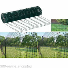 HEAVY DUTY 10M X 0.9M GARDEN GREEN PVC COATED BORDER STEEL WIRE MESH FENCE PANEL