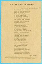 CPA: La pluie à la tranchée - Poème de Jean Vézère / Guerre 14-18