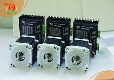 【Top Seller】3 Axis Nema34 Wantai Stepper Motor 1090oz-in,5.6A,100mm,CNC Engraver