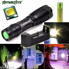 Zoomable 4000 Lumen 5 Modes CREE XML T6 LED Torch Lamp Light +Free 18650&Charger