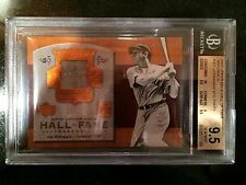 2005 UPPER DECK HALL OF FAME MATERIALS #JD1 J.DIMAGGIO RELIC- 25/25 9.5-POP 1!