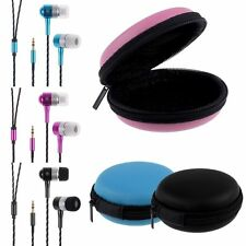 3.5mm In-ear Earbud Headphone Earphone Headset + Bag for Mobile Phone PC Laptop