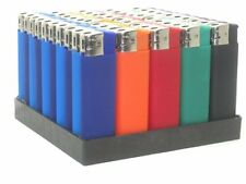 50 Pack WINLITE BOLD Rubber Finish Electric Refillable Cigarette Lighters