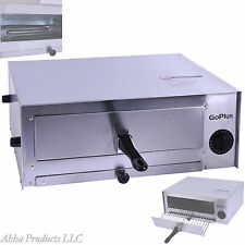 Commercial Restaurant Countertop Single Pizza Toaster Oven Stainless Steel Pan