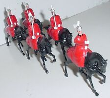Old BRITAINS 1950s Lead, Life Guards In Winter Cloaks, 5 Piece Set #400