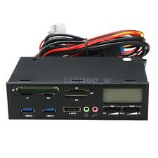 "5.25"" LCD Media Dashboard Temp Front Panel Multi Card Reader SATA eSATA USB V3O3"