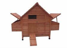 New Large Wood Chicken Coop Backyard Hen House 6-10 Chickens w 6 nesting box