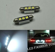 2x LED CANBUS SUPER WHITE 3 SMD BULBS NUMBER PLATE LIGHTS MERCEDES ML W163 W164