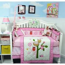 SoHo Owl Tree Party Baby Crib Nursery Bedding 13 pcs Set included Diaper Bag
