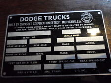 Typenschild Dodge Trucks Power wagon id-plate Schild Oldtimer s1