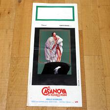 IL CASANOVA DI FEDERICO FELLINI locandina poster affiche Donald Sutherland W13