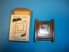 New Concord Miniatures Doll House Furniture Meicine Cabinet Shelf Mirror 4243