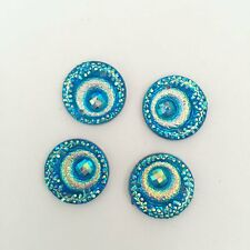 HOT 15pcs AB Resin round peacock eye two hole FlatBack Appliques/Wedding Button