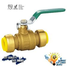 "3/4"" Push Fit Ball Valve with 5 yrs warranty (118-02) - Lead Free"