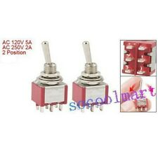 4 Pcs ON/ON 2 Position Double Pole Double Throw Toggle Switch