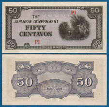 PHILIPPINES Japanese Occupation 50 Centavos (1942) aUNC P.105
