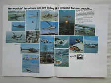 9/75 PUB BELL HELICOPTER TEXTRON HELICOPTERE BELL PHI POLICE YAH-63 ORIGINAL AD