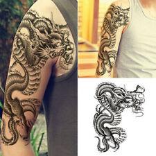 Etanche Dragon Tatouage Tattoo Temporaire Bras Corps Art Autocollant Sticker NF