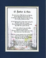 #25A Gift Present for Father or Son Poem Keepsake Fathers Day Birthday