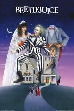 "Beetlejuice - Michael Keaton / Baldwin / Davis - Movie Poster ""24 x 36"" - NEW"