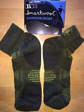 SmartWool OUTDOOR SPORT Light Mini Socks –Loden Army Green Hike Run Cycle–Men XL