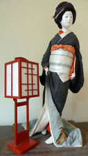 Exquisite Collectible Japanese Porcelain Geisha Girl Doll + Lantern early 1900!
