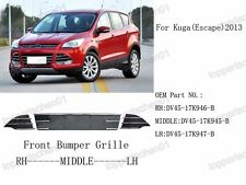 New Front Bumper Center & Side Grilles Grills Kits for Ford Escape 2013-2015