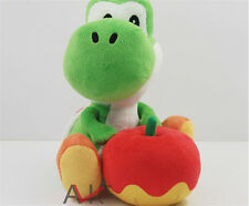"""1Pcs Super Mario Bros Plush Toy 6.5"""" Green Yoshi Big Soft Stuffed Animal Doll"""