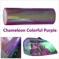 2m Chameleon Colorful Purple Car Headlamp Fog Lamp Vinyl Tint Film Decor Sticker