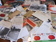 HUGE LOT OLD VINTAGE EPHEMERA PAPER ITEMS CARDS PHOTOS BOOKLETS OVER 7 POUNDS