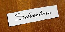 1960's Silvertone Headstock Waterslide Decal Black Radio Amp Vintage Guitar 8