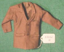 Dark Gray Suit Coat with Breast Pocket & Narrow Lapel for Ken Barbie Doll KNOW10