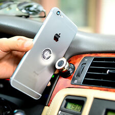 1 Pc 360 Magnetic Cell Mobile Phone Car Dash Holder Magic Stand Mount Black