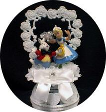 """ITS TIME"" Cute Rabbit ALICE IN WONDERLAND  Wedding Cake Topper Funny  Groom top"