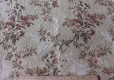 "French Antique c1910-20 Woven Jacquard Tapestry Home Dec Floral Fabric~26""LX21""W"