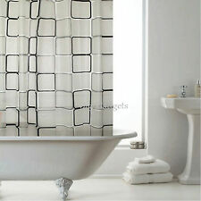 LUXURY BATHROOM SHOWER CURTAINS WITH HOOKS 1.8m x 1.8m CURTAIN BATH ACCESSORIES