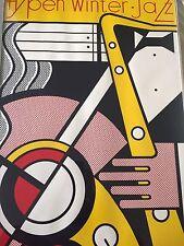 """Roy Lichtenstein - Original L/E Silkscreen """"Aspen Jazz Festival"""" Hand-signed"""