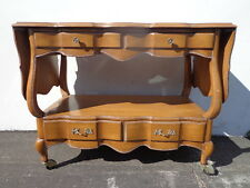 French Provincial Tea Bar Cart Cabinet Buffet Server Media Console Storage Table