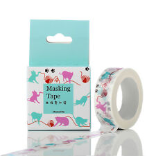 15mmx10m Cat playing with yarn Washi Tape Scrapbooking Sticker Masking Tape#14