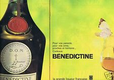 Publicité Advertising 056 1961 Benedictine grande Liqueur (2 pages)