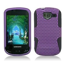 For Samsung Brightside MESH Hybrid Silicone Rubber Skin Case Phone Cover Purple