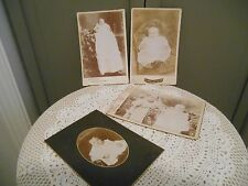 LOT of 4 Vintage BABY PHOTO'S Pictures INFANT Portraits CHILD CABINET Cards