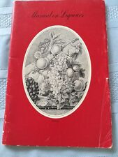 VINTAGE Manual on Liqueurs by LEROUX. 44 pp. Pre 1963. 4th Edition.