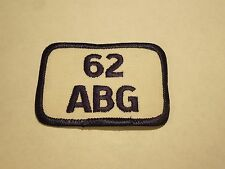 Vintage 62 ABG Air Base Group US Military Embroidered Iron On Patch
